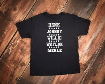 Johnny Cash Tshirt, Johnny Cash, Hank Williams shirt, Country tshirt, Outlaw, Willie Nelson tshirt, Merle Haggard shirt, Waylon Jennings