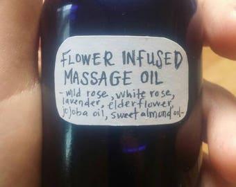Flower Infused Massage Oil