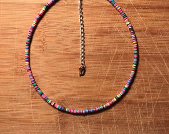 Multi-colored vinyl choker