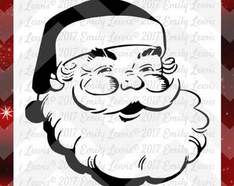 Santa svg - Santa svg files - Santa svg cuts - Santa cut files - Santa Claus svg - Christmas svgs - Christmas svg files - Merry Christmas