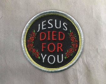 Jesus Patch | Sew on | Embroidery | Patches for Jackets | Christian Patch | Tumblr Patch | Bible Patch | Cute Patch | Back Patch