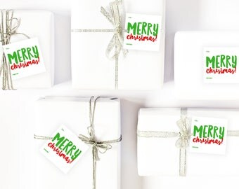 Christmas Gift Tags | Christmas Labels | Instant Download | Print Your Own