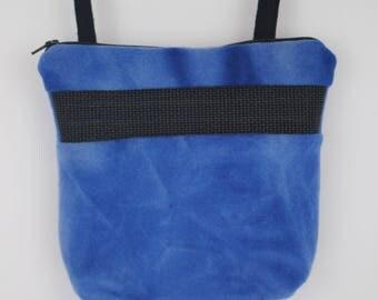 Sugar Glider Bonding Pouch, baby hedgehog bonding bag, small exotic nesting supplies, zipper bag, snuggle sack, Blue Tie Dye Fleece