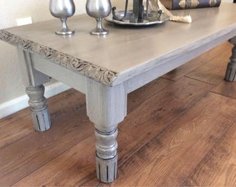 Coffee Table Gray Coffee Table Living Room Table Art Deco Carved Coffee  Table With Fluted Legs