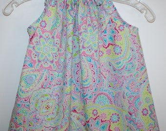 Colorful Pillow Case dress available in size 3T.