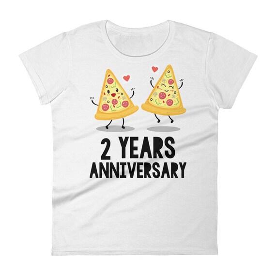 2nd Anniversary Women's t-shirt |  Years Anniversary Gift For Her | Anniversary, 2nd Anniversary Gifts | Funny 2nd Anniversary T-Shirt