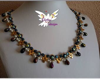 SIRIUS oil and gold plated necklace
