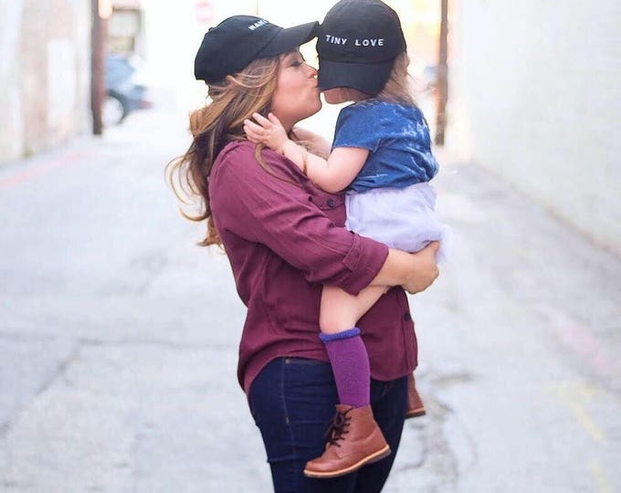 TINY LOVE  /// Black embroidered Toddler/Youth baseball hat