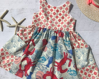 Coastal crab dress