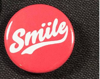 Red Smile Button