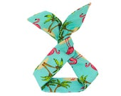 Tropical Blue Flamingo Wired Headband, Free Shipping, Rockabilly Style, Rockabilly inspired, 50's and 60's style, Handmade