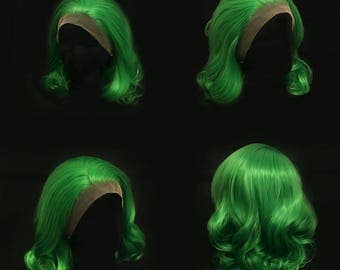 Green Layered lace front wig