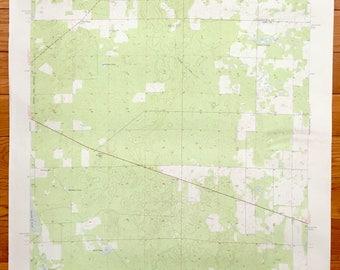 Antique Bronson Florida 1955 Us Geological Survey Topographic Map Merediths Adma Bronson
