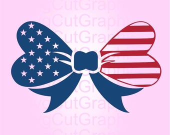 Bow United States SVG Files, Bow Svg Files, SVG Bow American, SVG Cut File, Svg File for Cricut, Silhouette Svg Files, Cricut Svg Files