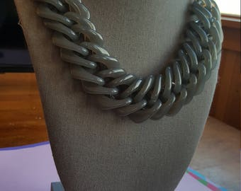 T Gray Statement Necklace