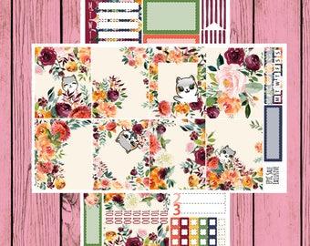 Autumn Roses - 2 page mini Planner Kit