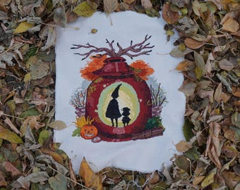Over the Garden Wall Cross Stitch Halloween Pattern