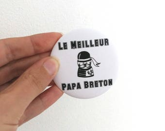 "Magnet magnet bottle opener ""breton best Dad"""