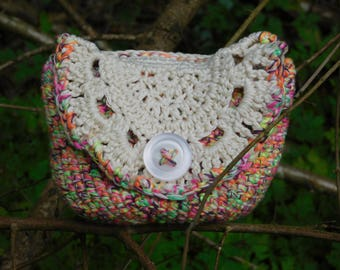 Crochet cotton coin purse or door