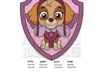 Paw Patrol Skye SVG DXF Electronic cutting files for Cricut Design Space - Silhouette Studio