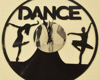 Dance lovers vinyl record clock ** FREE SHIPPING**