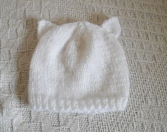Baby born hat with ears