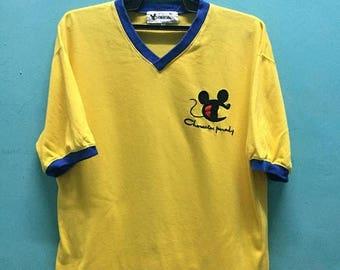 SALE 20% Vintage Champion Mickey Parody 90s Tshirt Disney