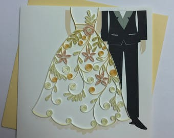 Wedding Quilling Greeting Card