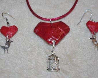Set made with real silver plated metal and Origami