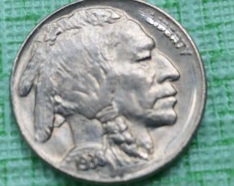 1938 -d Buffalo nickel  Brilliant details