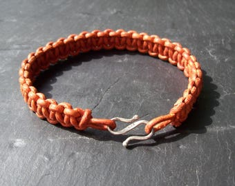 Man's bracelet - Mens bracelet - Leather bracelet - Natural leather bracelet - Man's gift - Mens gift - Leather mens bracelet