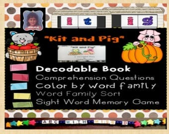 Printable Decodable Reader-Fall Themed-Sight Words, Phonics, Word Families, Sorting, Coloring, Games and Activities for Learning to Read