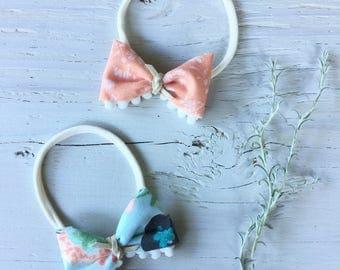 Summer pom tied bow