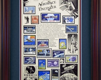 Aerospace Engineer 4614 - Personalized Framed Collectible (A Great Gift Idea)