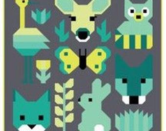 PRE-ORDER Delightful Desert Small Quilt Kit featuring Terrarium by Elizabeth Hartman