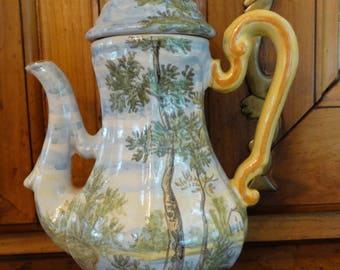 D'Amore Hand-painted Teapot with Landscape