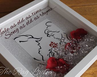 Tale as old as time Beauty and the beast inspired Forever Frame light box