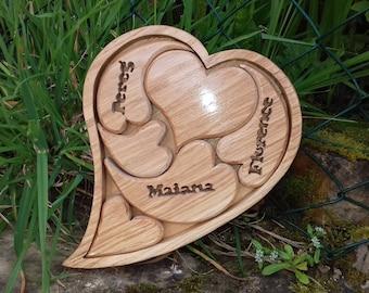 Decor Valentine solid wooden puzzle