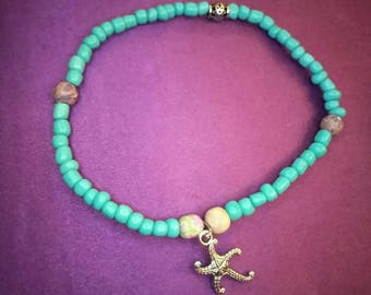Turquoise Starfish Anklet