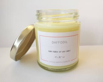 Daffodil - Handmade, scented soy wax candle