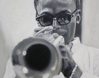 The Jazz Musician (oil painting, 2017)