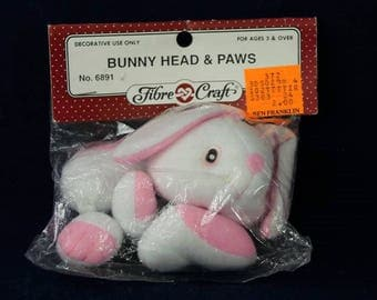 Fibre Craft Bunny Head and Paws #6891 Sealed