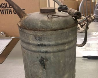 Antique Galvanized Metal Gas Can