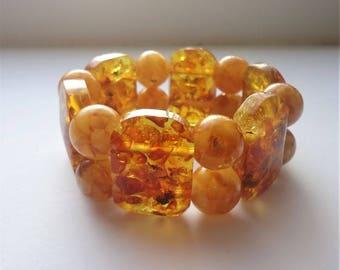Old Baltic amber bracelet