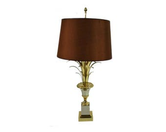 Brass pineapple leaf table lamp - maison charles table lamp - golden table lamp - bronze table lamp - hollywood regency style lamp