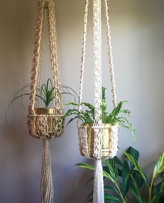 65 mcm macram plant hangers retro 70s kali. Black Bedroom Furniture Sets. Home Design Ideas