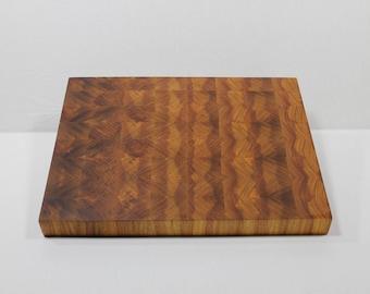 End Grain Cutting Board, Exotic Hardwood, Butcher's Block, Unique