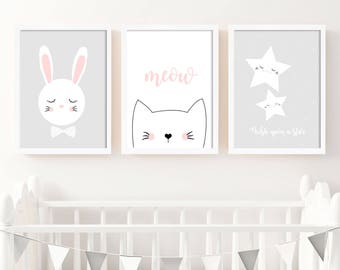 Nursery prints set of 3