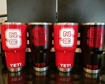 Custom NC STATE yeti personalized All Powder Coat no Decals!
