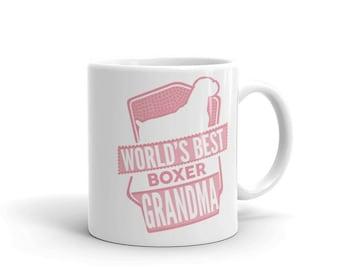 World's Best Boxer Grandma Mug - Funny Cute Boxer Gift - Gift For Grandma - Dog Lover - Coffee Mug